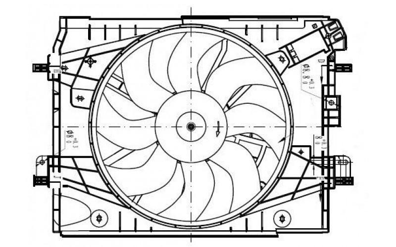 Вентилятор СОД Renault Logan 14-/Sandero 14-