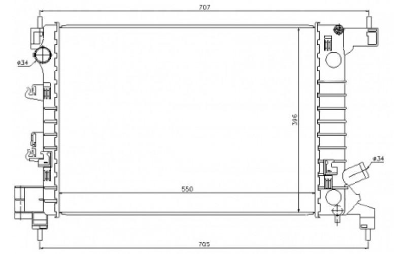 Радиатор СОД Chevrolet Aveo T300 11-/Cobalt 11- 1.2/1.4 МТ