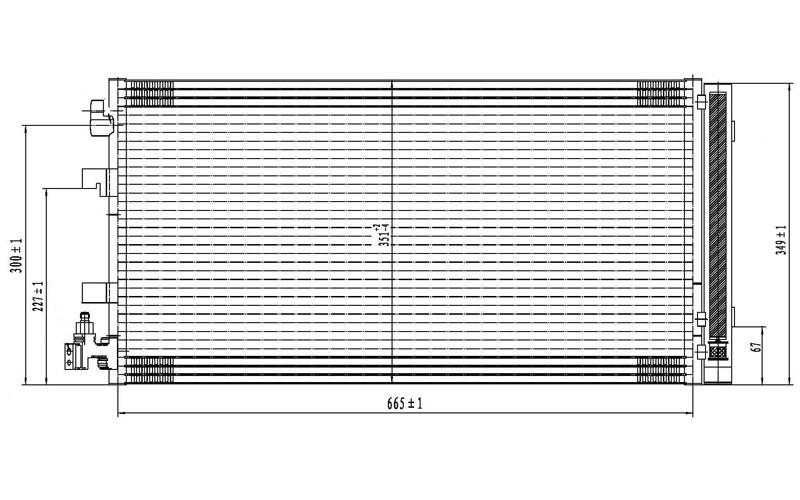 Радиатор СКВ Renault Fluence 10-/Megane III 08- (датчик вверх)