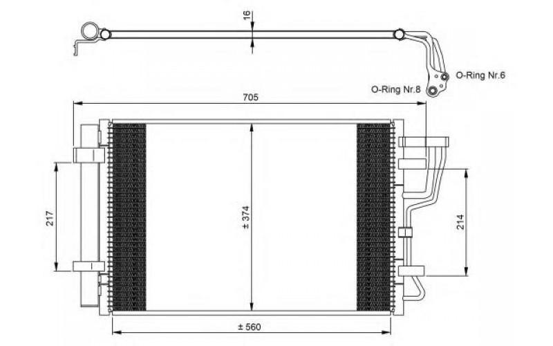 Радиатор СКВ Hyundai Elantra 06-/Kia Ceed 06-12/Cerato 09-13