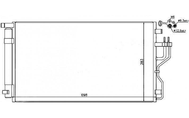 Радиатор СКВ Kia Sportage 10-/Hyundai IX35 10-