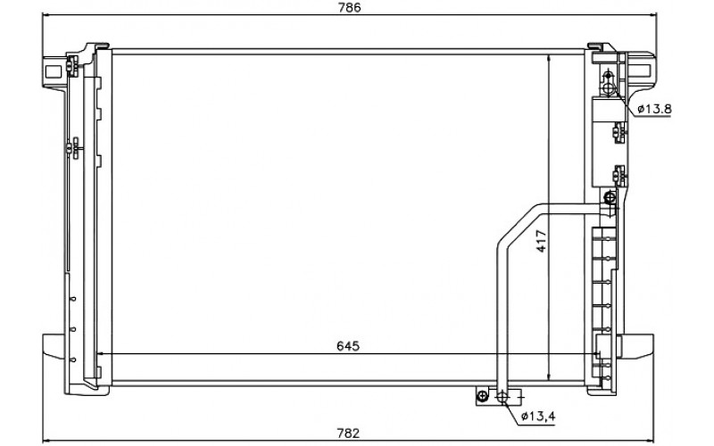 Радиатор СКВ Mercrdes W204 07-/W212 09-