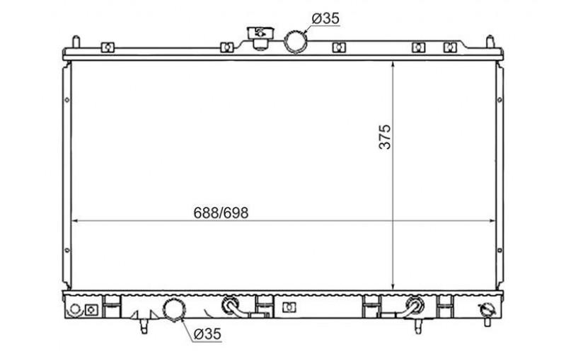 Радиатор СОД Mitsubishi Lancer IX 04- AT