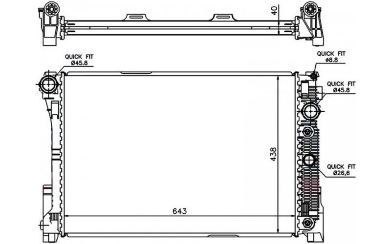 Радиатор СОД Mercedes W204 07-/W212 09- Diesel