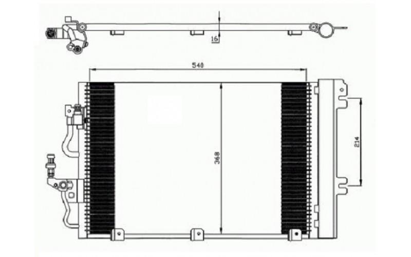 Радиатор СКВ Opel Astra H 04- MT